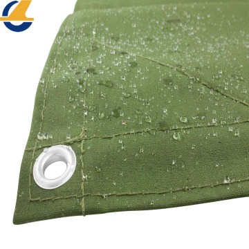 Green polyester fabric tarp waterproof
