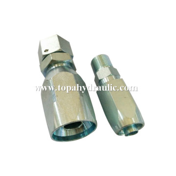 Reusable stainless steel hydraulic hose fittings for hydraulic hose