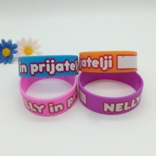 New Writable Printed Silicone Wristband