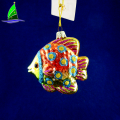 New style fashionable Christmas glass fish hanging ornaments