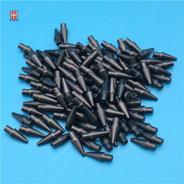 refractory black zirconia ceramic mouth suction nozzle