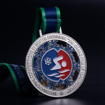 Cheap Metal Sports Medals With Ribbon