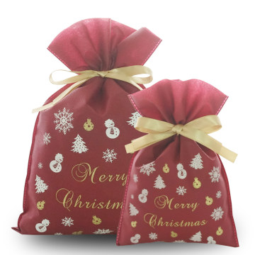 Non-woven Material Christmas Fairy Red Christmas Goodies Bag