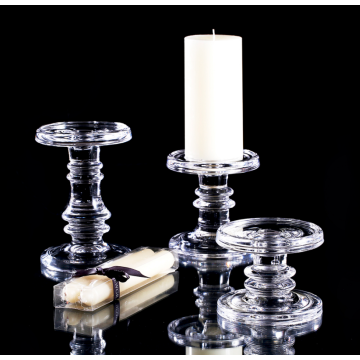 hand pressed votive candle holders