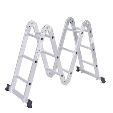Multi-purpose foldable aluminum extended loft ladder