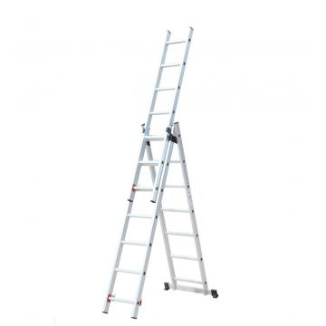 three section extension ladder