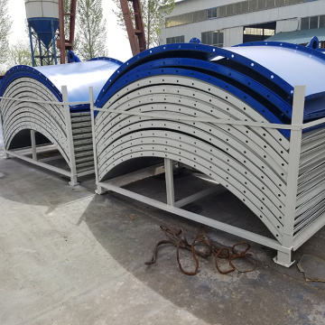 Conveyor screw for small 150 ton cement silo