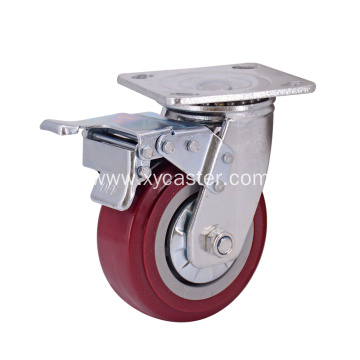 5 Inch PVC  Casters with Brakes