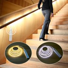 1M 2M 3M Motion Sensor LED light AAA Battery Powered LED Strip backlight decor Light For Bedroom Kitchen Cabinet night lighting