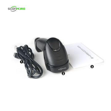 1d Handheld wired CCD scanner barcode reader