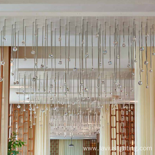 Lobby water drop shape crystal chandelier pendant