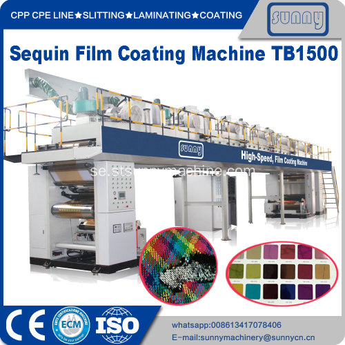 High Speed ​​PET Sequin film Coating Machine