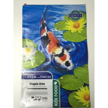 Custom Plastic  Slider Zipper Pouch for Koi Food