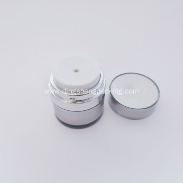 Good quality acrylic silver cosmetic cream airless jar 30g plastic airless jar 50g for skincare cream