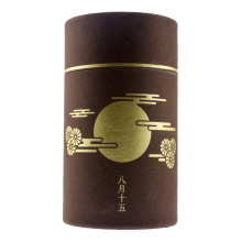 Customized Gold Stamping Tea Gift Paper Tube Box