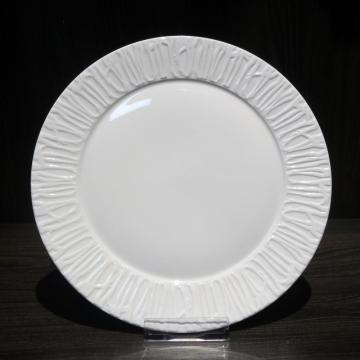 Embossed White Porcelain Dinner Sets