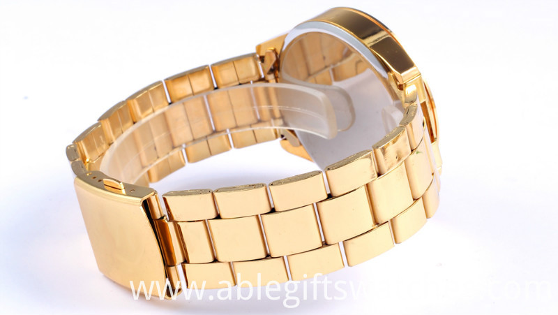 gold alloy watch