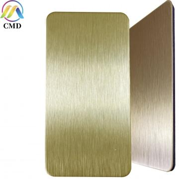 3MM Brush Copper/Brush Gold Aluminium Composite Panel