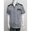 Men's cotton yd check jacard casual shirt
