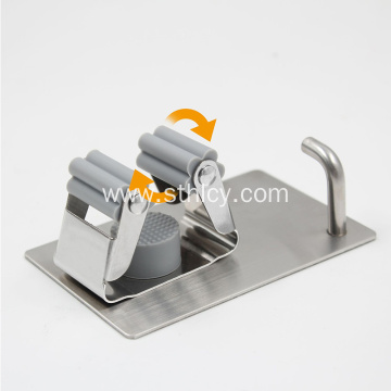 Stainless Steel Mop Holder Broom Storage Rack