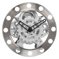 Classic Stainless Steel Gear Wall Clocks