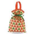 Red Triangle Pattern Christmas Series Gift Bags