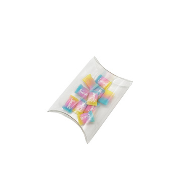 Retail pillow shape hard small plastic clear box