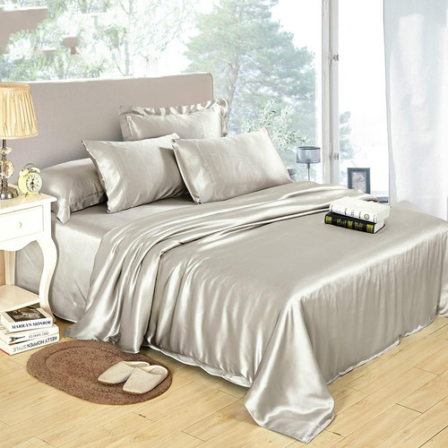 Silk Bedding Duvet Cover With Zipper Closure
