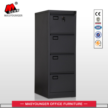 Black Metal 4 Drawer File Cabinet