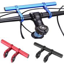 20CM Carbon Tube Bicycle Handlebar Extender Mount Mountain MTB Bike Cycling Headlight Bracket Lamp Flashlight Holder Accessories