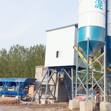 HZS25 stationary ready - mixed concrete batching plant