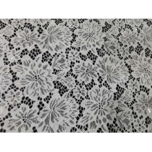 100% Nylon Flower Pattern Lace Fabric