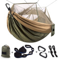 Camo Portable Parachute Nylon Hammock with Bug Net
