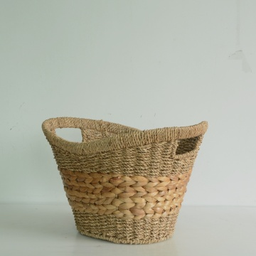 Natural ocean grass gourd woven basket