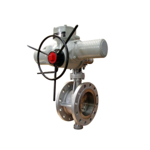 Electrical PTFE Flange Fluorine Lined Butterfly Valve