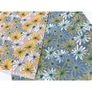 Ink Style Design with Cotton Linen Printed Fabric