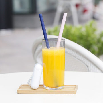 Silicone Collapsible Straw - Reusable Foldable Drinking Straw