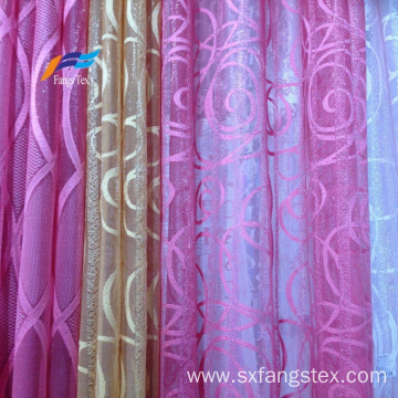 Polyester Embroidered Sheer Voile Upholstery Curtain Fabric