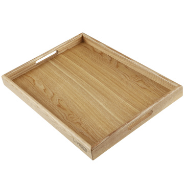 Wooden Tray with Handle for Kitchen