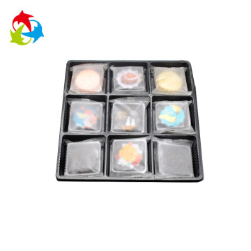 Black blister plastic biscuit insert tray