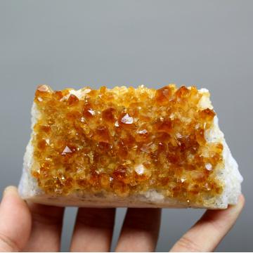 100% Natural Citrine Cluster mineral specimen Quartz Stones and crystals Healing crystal