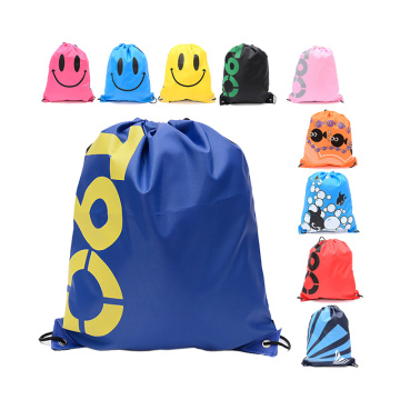 Customized Logo Printed  New Design Sports Gym Drawstring Shoe Bag
