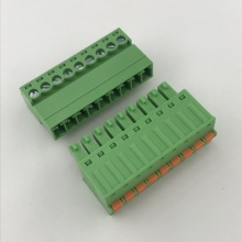 9pin male to female pluggable spring terminal block