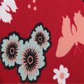 Butterfly Printed With Rayon Plain Fabric