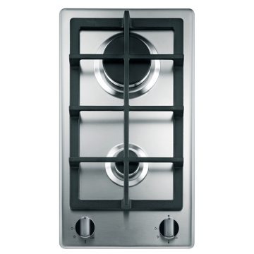 Gas Hob 2 Burner in Stainless Steel