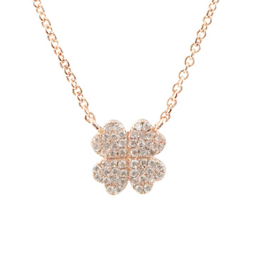 Rose Gold Plated Four Leaf Clover Necklace
