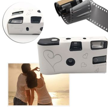 27 Photos Power Flash Single Use One Time Disposable Film Camera Party Gift