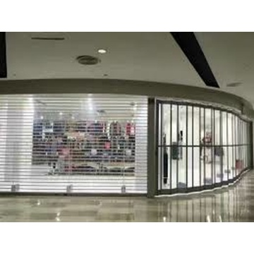 Vertical PC Transparent Commercial Crystal Shutter Door