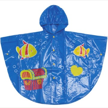 Full over printing Kids rain poncho
