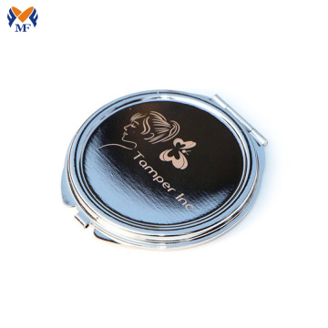 Custom logo metal cheap pocket mirror for ladies